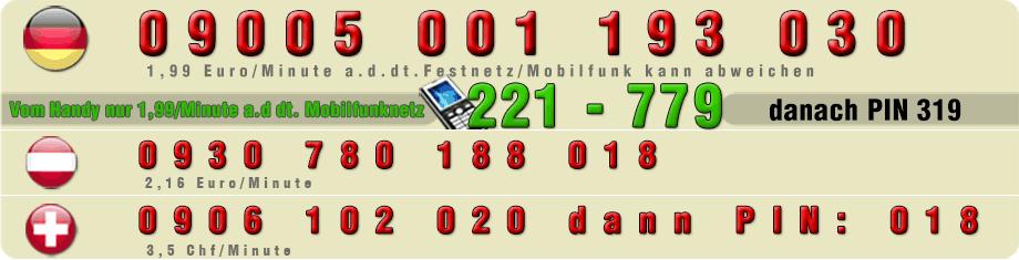 Nummern für Telefonsex mit Hausfrauen